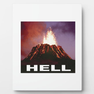 volcano hell plaque