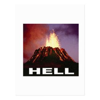 volcano hell postcard