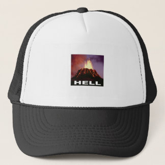 volcano hell trucker hat