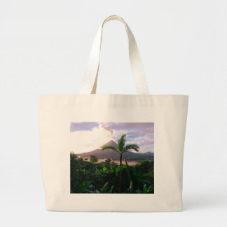 Volcano In The Tropics Large Tote Bag