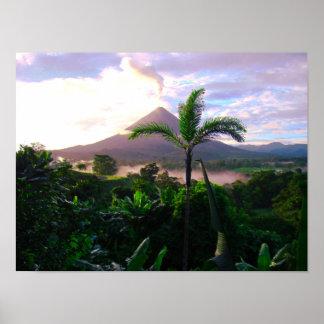 Volcano In The Tropics Poster