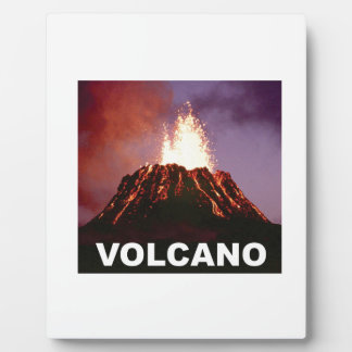Volcano joy plaque