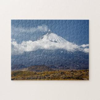 Volcano Klyuchevskaya Sopka on Kamchatka Peninsula Jigsaw Puzzle