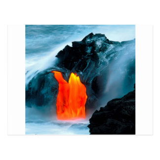 Volcano Lava Flow From Kilauea Hawaii Postcard