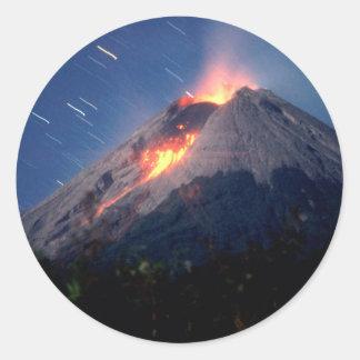 Volcano Natural Wonder Classic Round Sticker