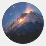 Volcano Natural Wonder Round Sticker