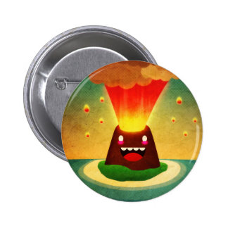 Volcano Pinback Buttons