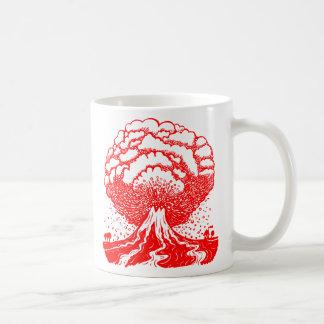Volcano - Red Classic White Coffee Mug