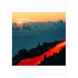 Volcano Reunion Island Lava Flow 1975 Postcard