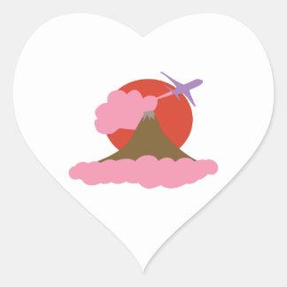 Volcano Heart Sticker