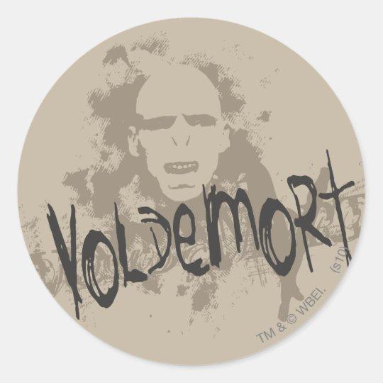 Voldemort Dark Arts Graphic Classic Round Sticker