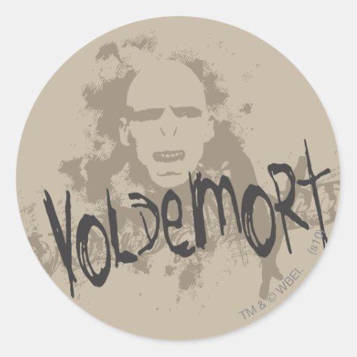 Voldemort Dark Arts Graphic Round Sticker