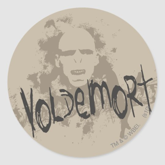 Voldemort Dark Arts Graphic Round Sticker