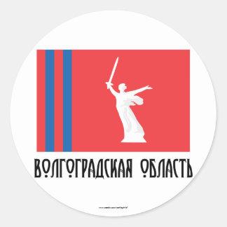 Volgograd Oblast Flag Classic Round Sticker
