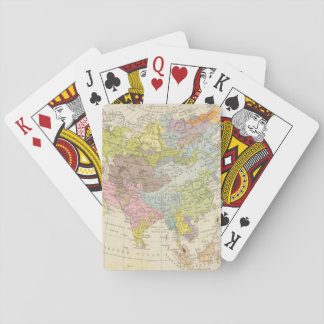Volkerkarte von Asien - Map of Asia Poker Deck