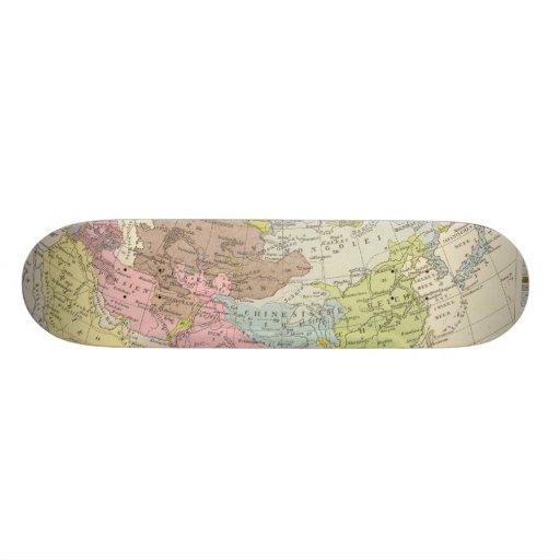 Volkerkarte von Asien - Map of Asia Skate Board Deck