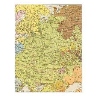 Volkerkarte von Russland - Map of Russia Postcard