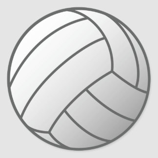 Volley Ball Classic Round Sticker