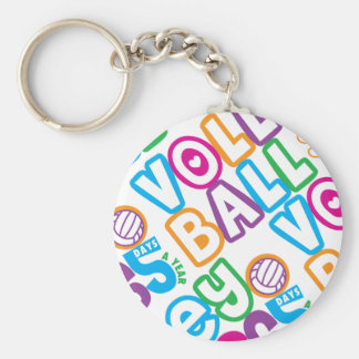 Volleyball 365 Days A Year Key Ring