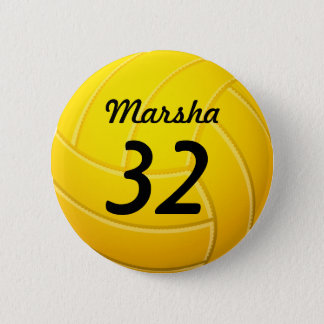 Volleyball 6 Cm Round Badge