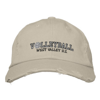 Volleyball - Add your school Embroidered Baseball Caps