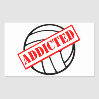 Volleyball Addicted Stamp Rectangular Sticker