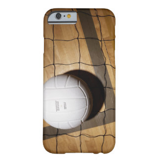 Volleyball and net on hardwood floor of barely there iPhone 6 case