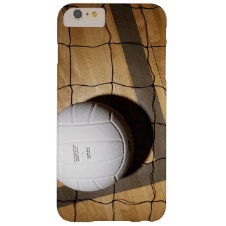 Volleyball and net on hardwood floor of barely there iPhone 6 plus case