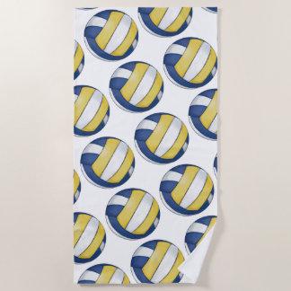 Volleyball Art Beach Towel