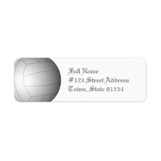 Volleyball Ball Mailing Labels