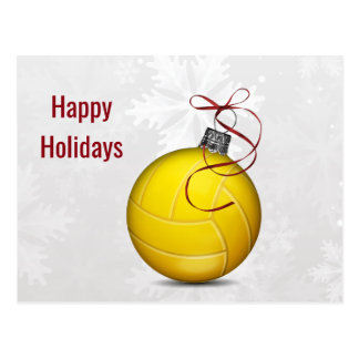 volleyball ball ornament Holiday Cards