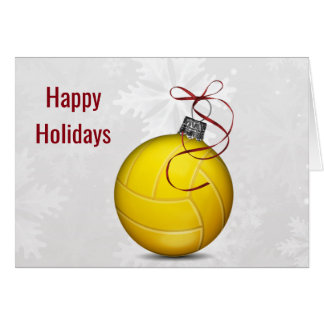 volleyball ball ornament Holiday Greetings Card