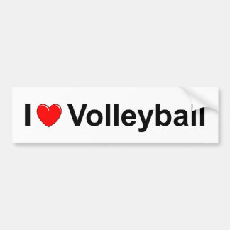 Volleyball Bumper Sticker