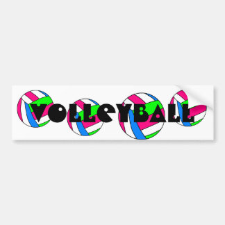 Volleyball Bumper Sticker