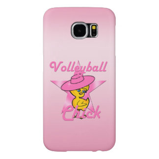 Volleyball Chick #8 Samsung Galaxy S6 Cases