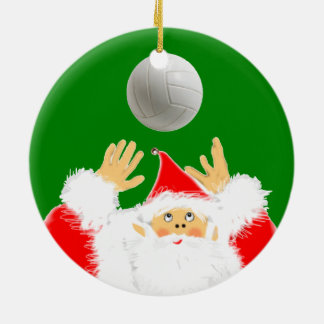 Volleyball Christmas Collectible Ceramic Ornament