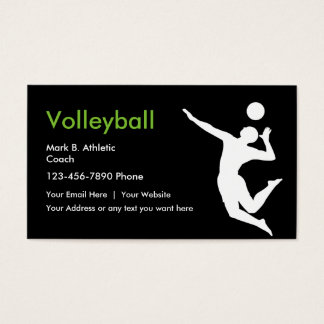 Volleyball Coach Business Cards