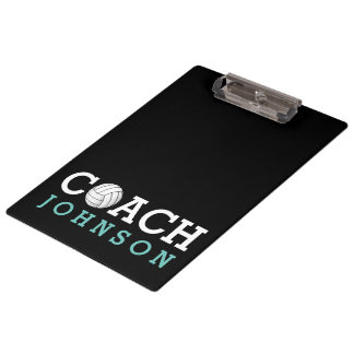 Volleyball Coach Custom Name Clipboard