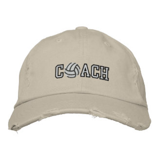 Volleyball Coach Embroidered Baseball Cap