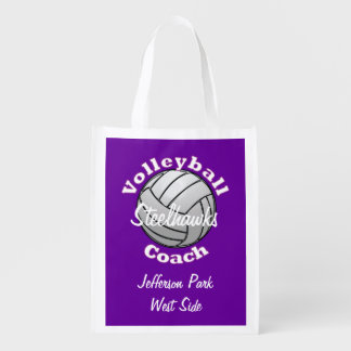 Volleyball Coach Reusable Grocery Bag