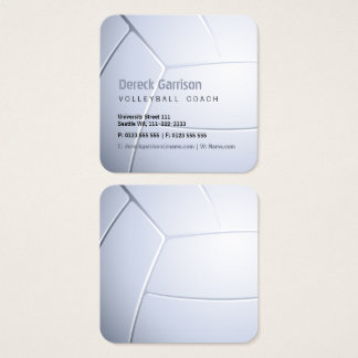 Volleyball Coach | Sport Square Business Card