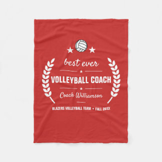 Volleyball Coach Team Thank You Gift Personalized Fleece Blanket