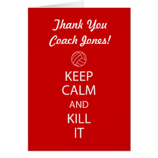 Volleyball Coach Thank You Note Card