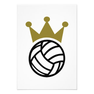 Volleyball crown champion personalized invites