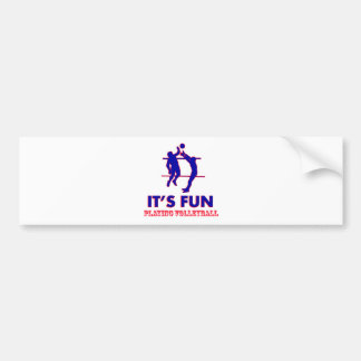 volleyball Designs Bumper Sticker
