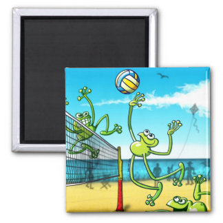 Volleyball Frog Refrigerator Magnet