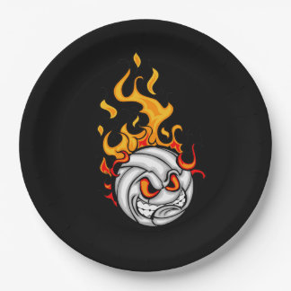Volleyball Fury Father's Day Party Paper Plate