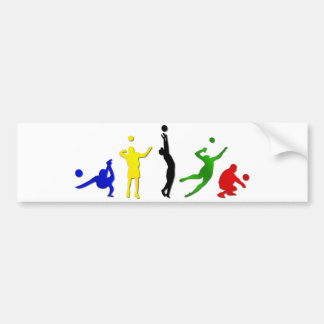 volleyball games bumper sticker
