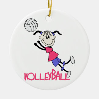 Volleyball Girl Ceramic Ornament