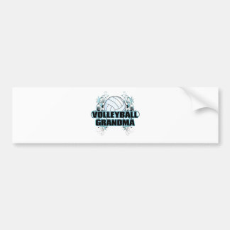 Volleyball Grandma (cross).png Bumper Sticker